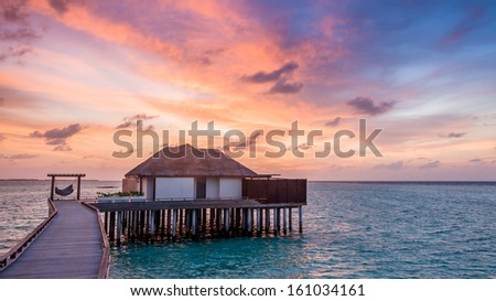 Home On Ocean Ambergris Caye Belize Stock Photo 94859221