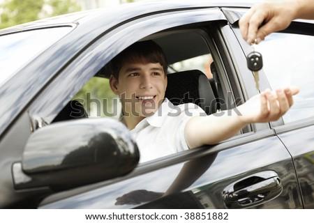 happy driver - stock photo