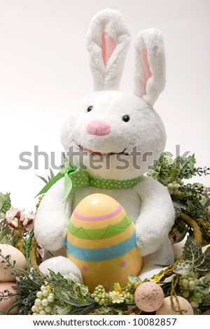 Happy easter bunny smiling