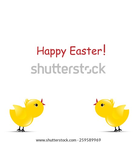 Happy Easter Chicks  - stock photo