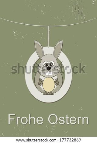 Happy Easter Card Bunny Stock Vector 177732824