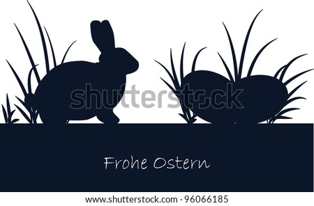 Happy Easter - german Frohe Ostern - stock photo