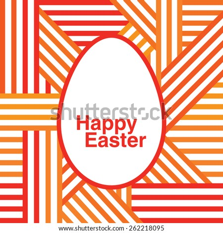 Happy Easter. Greeting card with Easter. Congratulation. - stock photo