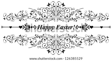 Happy easter! illustration - stock photo