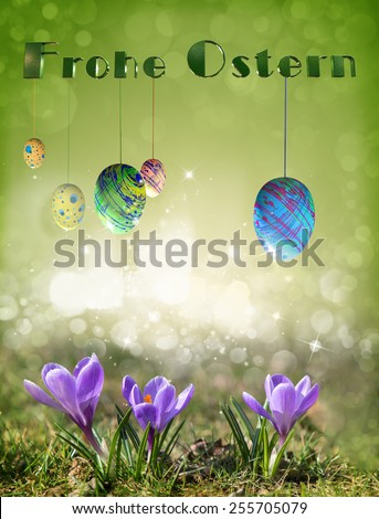 Happy Easter in German - stock photo