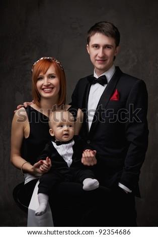 Happy family. - stock photo