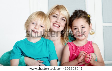 Happy family. Mum's day - stock photo
