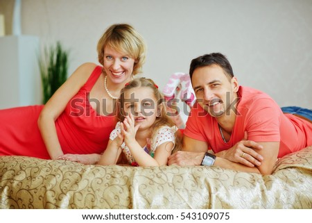 happy family with a child