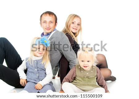 happy family with small children