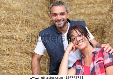 Happy farmers - stock photo