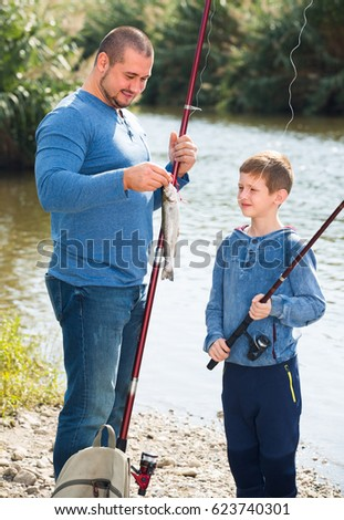 Man fishing stock images royalty free images vectors for Father son fishing