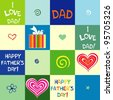 happy father day. Seamless wallpaper. Illustration Background. - stock vector