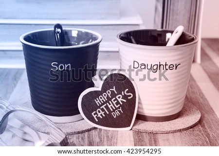Happy fathers day concept - stock photo