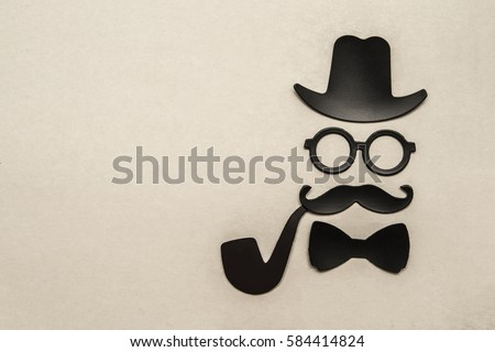 Happy fathers day sticker hat glasses stock photo royalty free 584414824 shutterstock