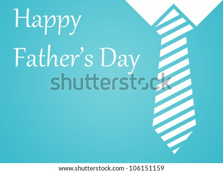 Happy fathers day written blue background.