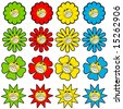 Happy flower symbols - stock
