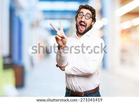 happy fool man - stock photo