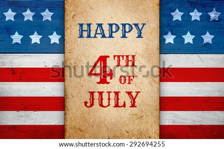 Happy Fourth of July patriotic background - stock photo
