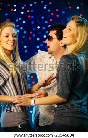 Happy friend clubbing - stock photo
