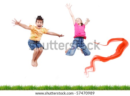 happy friends - stock photo