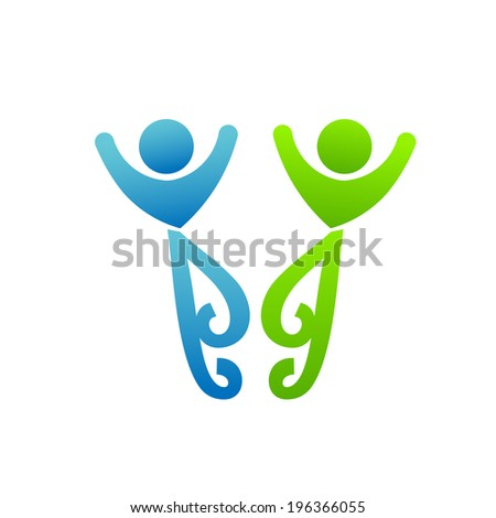 Happy friends meeting. Concept of partnership, friendly people, couple life. - stock photo
