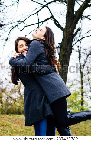 Happy friendship moments - stock photo