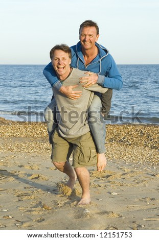 Happy gay couple. - stock photo