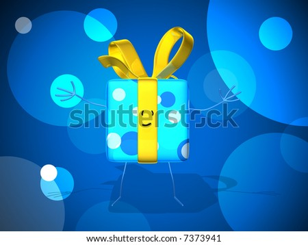 Happy gift - stock photo