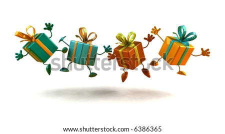 Happy gifts - stock photo
