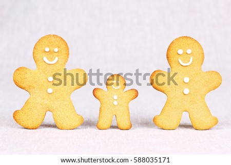 Happy Gingerbread Family