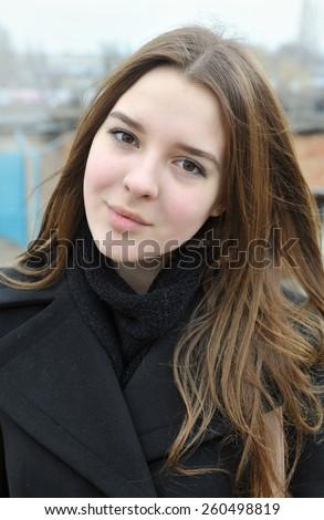 Happy girl - stock photo