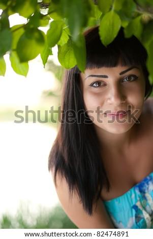 happy girl. soft focus - stock photo