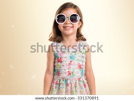 Happy girl with sunglasses