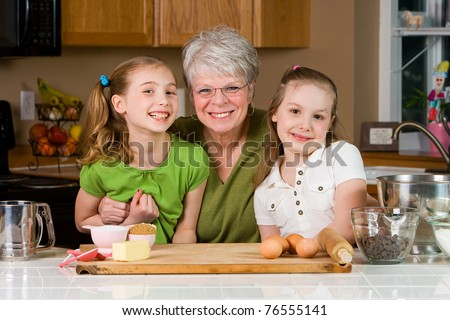 Happy Grandma - stock photo