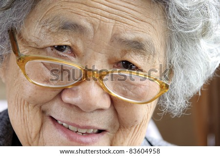 happy grandmother - stock photo