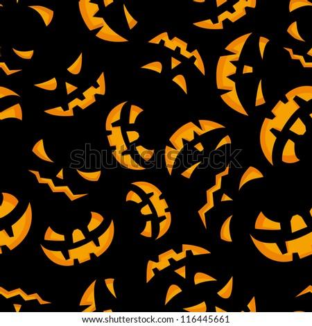 Happy halloween night seamless background.  Raster version. - stock photo