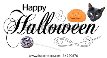 Happy Halloween type design. - stock photo