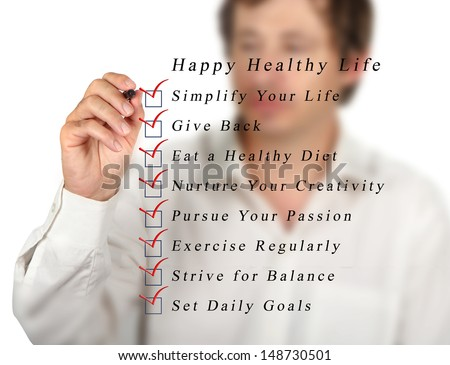 Happy healthy life - stock photo