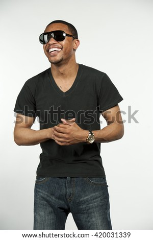 Happy Hip African American Male
