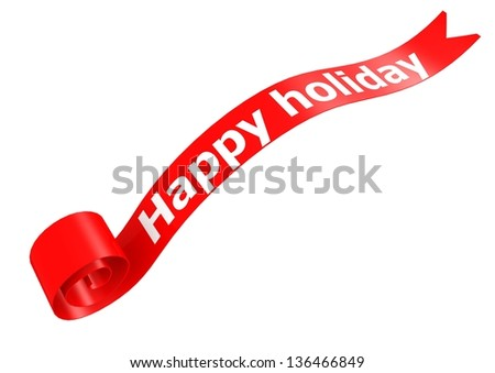 Happy holiday banner - stock photo