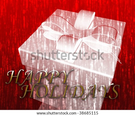 Happy Holidays festive special occasion celebration abstract illustration - stock photo