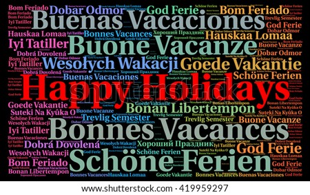 Happy holidays different languages word cloud stock illustration happy holidays in different languages word cloud m4hsunfo