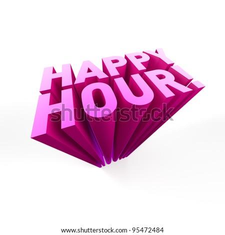 Happy Hour! - stock photo