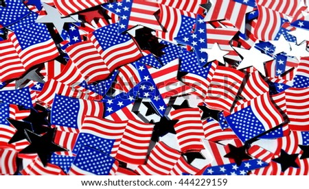 Happy Independence Day, celebration, patriotism and holidays concept, 4th july party, US flag