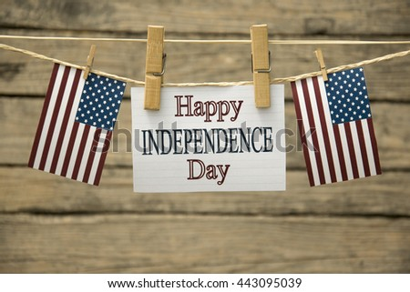 Happy Independence day greeting card or background. - stock photo