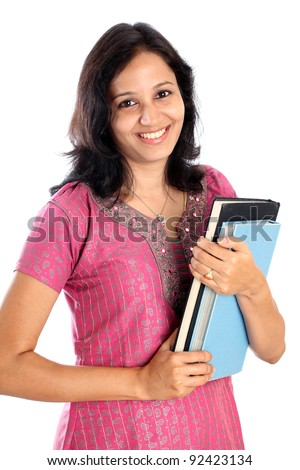 Happy Indian college student - stock photo