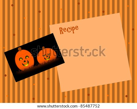 Happy Jack-o-lanterns - Text Space - stock photo