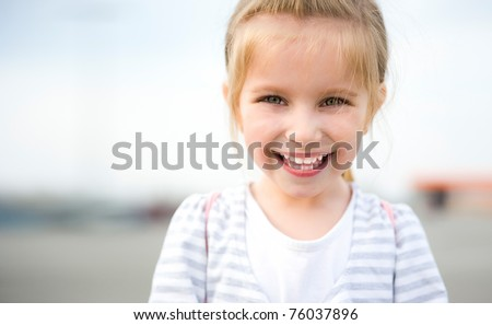 Happy Kids Sister and Brother. Isolated on a white background - stock photo