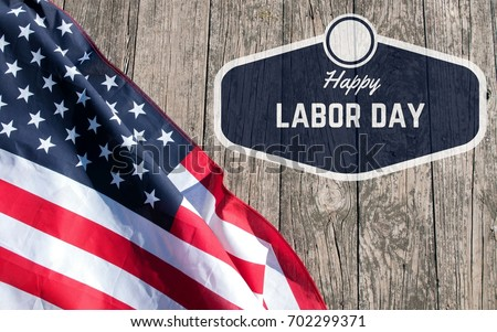 Happy Labor Day. USA flag. American holiday