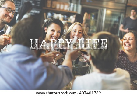 Happy Life Active Health Lifestyle Living Nutrition Concept - stock photo